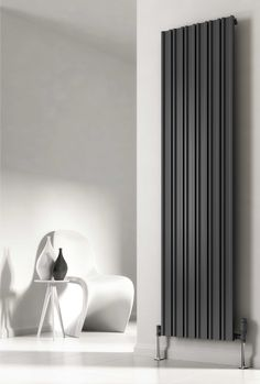 Reina Raile vertical deisgner radiator. The Designers at Reina have taken this integral movement in lifestyles and emphasised this throughout thier collection. This contemporary radiator creates the perfect focus point to suit rooms of the most diverse styles. Available from stock in white or anthracite. Complete with a 5 year guarantee. Prices from £201.82!