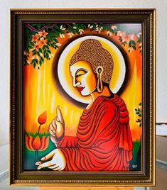 Buddha Artwork, Buddha Painting, Canvas Painting Designs, Diy Canvas Art, Peacock Wall Art, African Art Paintings, Mandala Art Lesson, Ganesha, Artisan