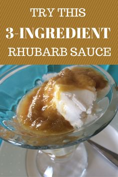 Looking for recipes with few ingredients? Try this 3-ingredient Rhubarb sauce