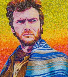 """24"""" x 28""""  #clinteastwood made with #recycled candy and drink labels. Please check out my website!"""