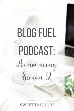 Season 2 of the Blog Fuel podcast kicks off January 13, 2017, with a new cohost, a new format, and on a new day! Get all the details and catch up on Season 1. Blog Fuel podcast for bloggers & bosses. http://sweetteallc.co/announcing-season-2-of-the-blog-fuel-podcast/?utm_campaign=coschedule&utm_source=pinterest&utm_medium=Sweet%20Tea%2C%20LLC