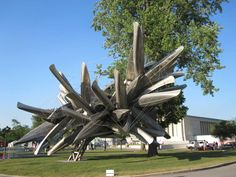 Love this sculpture just installed outside the Albright-Knox Art Gallery