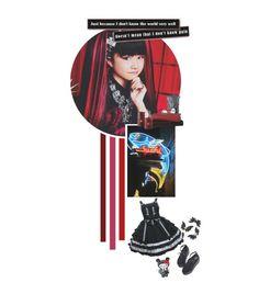 """🎪 OC: Machiko Kuze (RTD)"" by yellowpika-san ❤ liked on Polyvore featuring Hello Kitty"