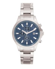 Radiant Navy Watch. Masculine yet sophisticated, this Watch features a luxe navy face with three sub-dials and a contrasting Stainless Steel Bracelet. This timepiece can be worn with everything from your casual weekend wear to your buttoned-up weekday wardrobe. https://mysilpada.com/shop/product/radiant-navy-watch-T3273