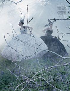 Edie Campbell & Karen Elson by Tim Walker for Love Magazine #10 Fall Winter 2013-2014