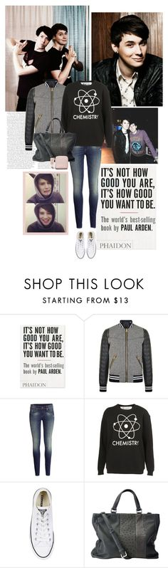 """""""""""I make videos about how awkward I am and people laugh at me"""" - Dan Howell"""" by bittersweet89 ❤ liked on Polyvore featuring Urban Outfitters, Dolce&Gabbana, H&M, Tee and Cake, Converse, Anne Sylvain and Acne Studios"""