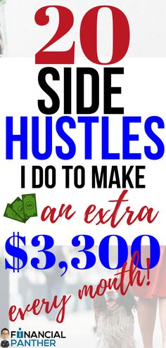 Financial Panther is here to help you make money this month with over 20 side hustles they do to mak Earn Money From Home, Way To Make Money, How To Make, Extra Cash, Extra Money, Money Tips, Money Hacks, Side, Managing Your Money
