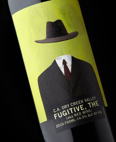 The Fugitive wine label (by Stranger & Stranger)