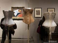 Corsets from Metropolitan Museum of Art's Impressionism, Fashion & Modernity exhibit