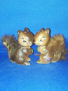 Vintage Salt and Pepper Shakers Sets Squirrels Furry Tails