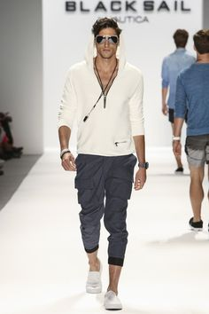 "Nautica ""The front-pocket slim cargos and the white hoodie."" —Garrett Munce, GQ Fashion Editor"