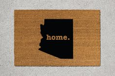 Arizona Doormat Arizona Door Mat Arizona Welcome by TheDoormatory