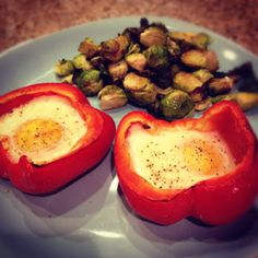 Eggs in a Red Basket.  Perfect #cambiaticlean breakfast.  Be sure to use best quality eggs you can find (pastured, if possible).