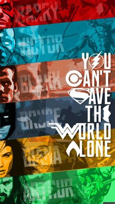 Justice League Movie Poster 2017 Barry, Victor, Clark, Bruce, Diana and Arthur, You Can't Save the World Alone - DigitalEntertainmentReview.com