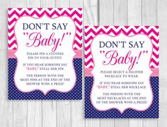 Printable Don't Say Baby 8x10 Clothes Pin or by WeddingsBySusan