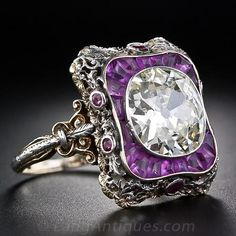 Extraordinary 4.23 Carat Antique Diamond Ring