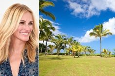 Julia Roberts Puts Her Hawaiian Estate On the Market.Hawaiian Hideaway Julia Roberts is known for being fiercely protective of her family's privacy, so it's no surprise the actress calls a hidden Hawaiian getaway a home away from home. How To Be Single Movie, Grand Terrace, Beachfront House, Catherine Zeta Jones, Julia Roberts, George Clooney, Country Estate, Celebrity Houses, Heaven On Earth