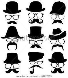 stock vector : 9 invisible men