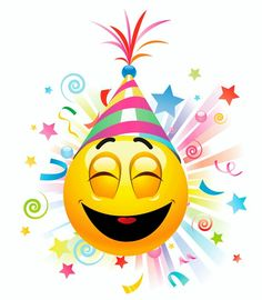 Birthday Emoticons, Happy Birthday Emoji, Happy Birthday Celebration, Birthday Clipart, Happy Birthday Messages, Happy Birthday Images, Love Smiley, Smiley Happy, Emoji Love