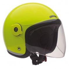 Kask El'met Fluorescent - Yellow Scooter Helmet, Road Trip, Yellow, Hats, Accessories, Shell, Hat, Road Trips, Hipster Hat