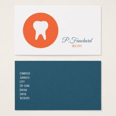 Dentist Logo Icon Business Card - stylish gifts unique cool diy customize