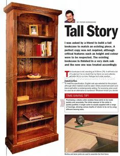 #1234 Tall Bookcase Plans - Furniture Plans