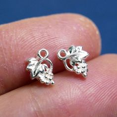 925 Sterling silver ear studs bridesmaid gift by artstudio88