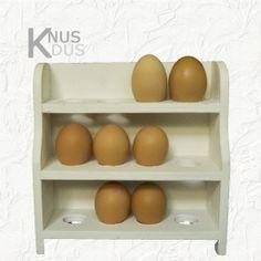 Houten eierrekje voor 12 eieren