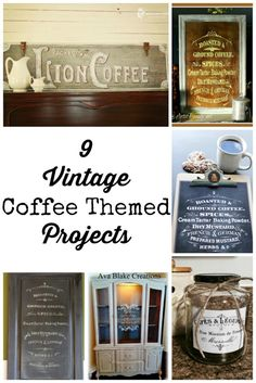9 Vintage Coffee Themed DIY Projects - The Graphics Fairy