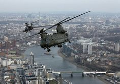 Chinnok and Apache over london as oart of Op Herrick flypast in March 15.