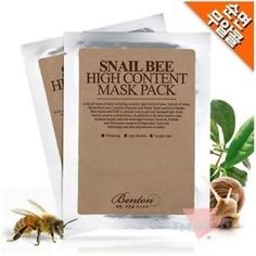 BENTON Snail Bee High Content Mask pack 10 sheets SET #Features     Snail Secretion Extract    Bee Venom    EGF    Aloe Vera    Green Tea    Natural Preservatives    Recommended for sensitive skin, troubled skin, imbalanced water-and-oil, oily ski