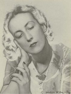 Marie Laure de Noailles photographed by  Man Ray, 1936.