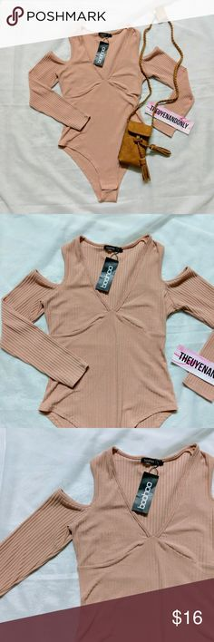 NWT Boohoo Molly Cold Shoulder Bodysuit 💠NEW WITH TAG  💠BODYSUIT ONLY. Other accessories are not included  💠Boohoo Molly Long Sleeve Cold Shoulder Bodysuit  💠Size US 10 (M) - UK 14  💠NO TRADE  💠Ship same/next day Boohoo Tops Tees - Long Sleeve