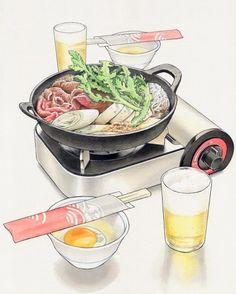 Hot pot and beer food illustration Beer Recipes, Asian Recipes, Pinterest Instagram, Food Sketch, Food Illustrations, Illustration Art, Food Journal, Love Eat, My Best Recipe