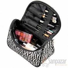 Zebra Desen çok Fonksiyonlu Makyaj çantası + Aynalı GittiGidiyor'da 293740379