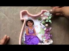 Tutorial  Princess Dress Shadow Box GDT project for Sa Crafters