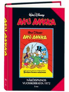 AA Näköispainos 1972, osa 1 Disney Au, Donald Duck, Comic Books, Cover, Cartoons, Comics, Comic Book, Graphic Novels, Comic