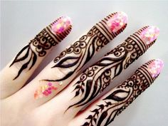 Latest Simple Mehndi Designs For Fingers Only 2016