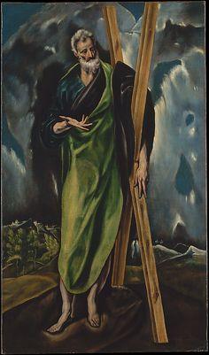 "El Greco (Spanish, ca. Saint Andrew, ca. 1610 s work is featured in ""El Greco Spanish Painters, Spanish Artists, Renaissance Espagnole, Renaissance Kunst, St Andrews, Wow Art, Old Master, Religious Art, Metropolitan Museum"