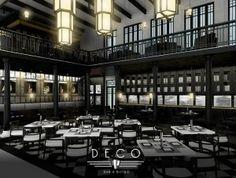 Art deco restaurant   Home, interior and design   Pinterest   Sitzen