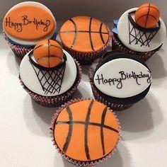 #BasketballCupcakes #Basketball #Cupcakes #HappyBirthday #BirthdayCupcakes #ChocolateCake #NutellaFilling #VanillaButtercream or #Ganache