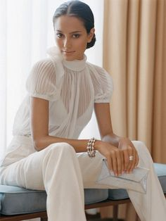 White is Hot! What to wear this summer via The Entertaining House. Image via Dustjacketattic.blogspot