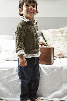 Knit a Toddler's Cardigan- free pattern