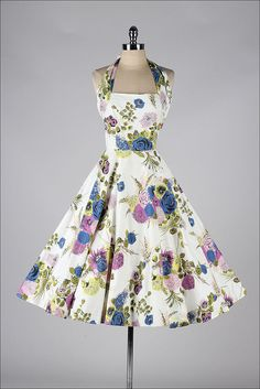 vintage 1950s dress . TONI TODD . floral by millstreetvintage