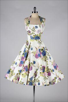 vintage 1950s dress . TONI TODD . floral by millstreetvintage