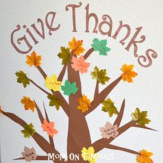Thanksgiving Activities – Count Your Blessings Tree