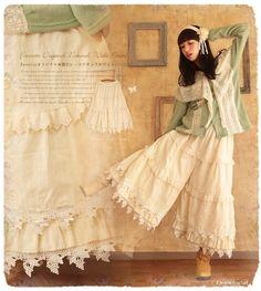 Gigantic lacy culottes, how pretty