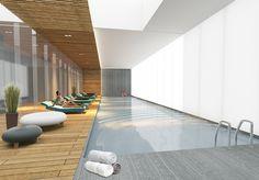 EURO POOL El lugar ideal donde se conjugan el deporte y la diversión, increíble alberca techada con 3 carriles de nado y a su alrededor camastros ergonómicos para un descanso y relajación total.