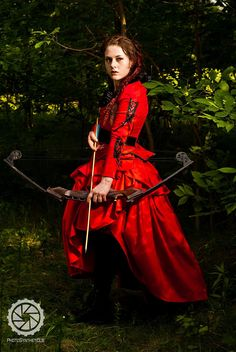 Corseted Equestrian Jacket Red and Black