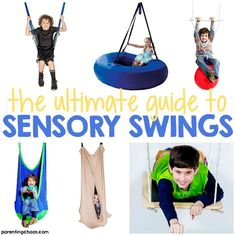 The Ultimate Guide to Sensory Swings ⋆ Parenting Chaos Sensory Swing, Sensory Tubs, Sensory Rooms, Autism Sensory, Sensory Diet, Sensory Issues, Sensory Play, Sensory Integration Therapy, Sensory Therapy